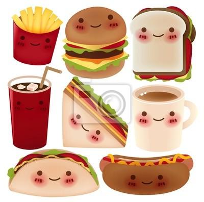 Коллекция Fast Food - векторный файл EPS10