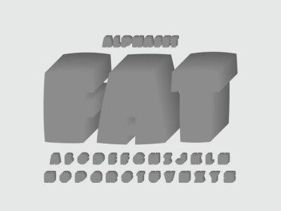 Fat font. Vector alphabet