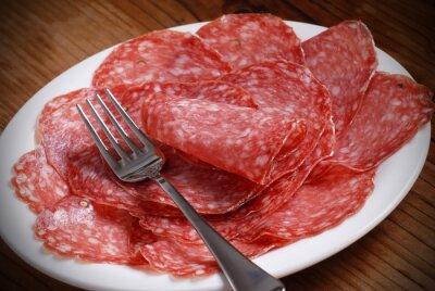 Картина жир Саламе ди итальянский суль Piatto