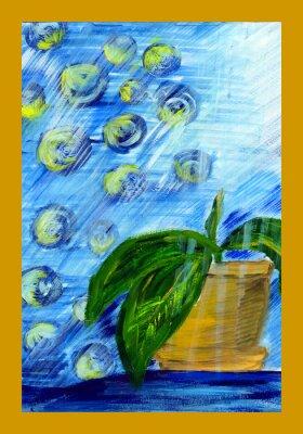 Картина Рисунок сеялка с цветком