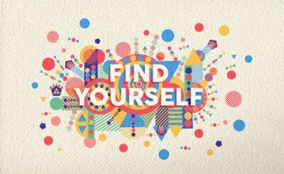 Найти себе цитату плакат дизайн фона