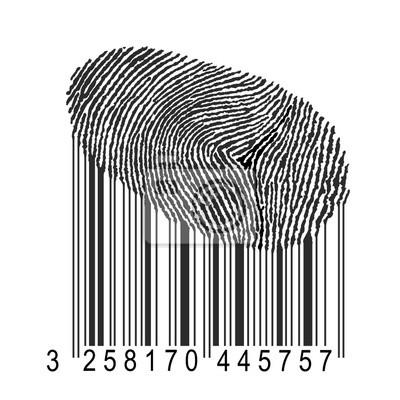 отпечатков пальцев со штрих-кодом