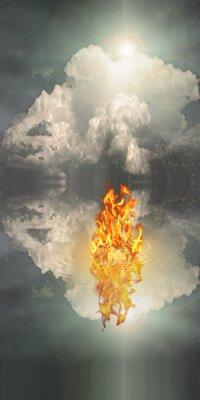 Картина Огонь и вода