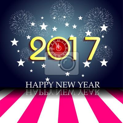 С новым годом 2017 с часами
