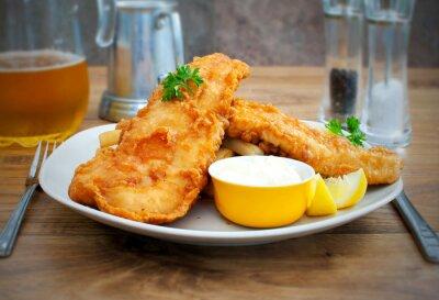 Картина Рыба с жареной картошкой