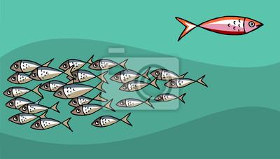 Рыба плыть против течения