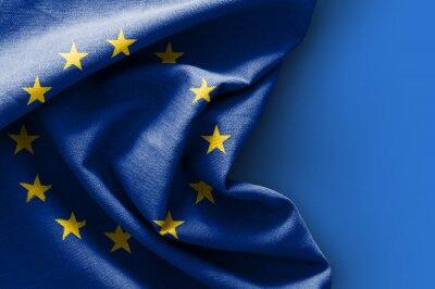 Картина Флаг Европы на синем фоне