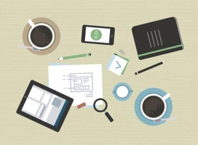 Картина Квартира иллюстрация современной деловой встречи