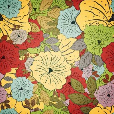 Картина Цветочные бесшовные гранж цветной рисунок