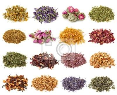 Цветок и травяной сбор чая