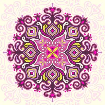 Картина Цветок мандалы. Абстрактный элемент дизайна