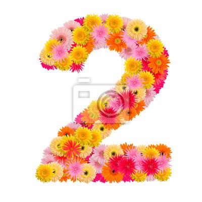 цветок номер два. Цветочный элемент красочных алфавита сделаны из