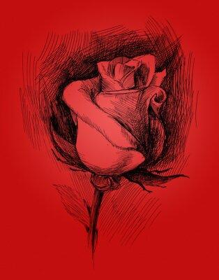 Картина цветок эскиз