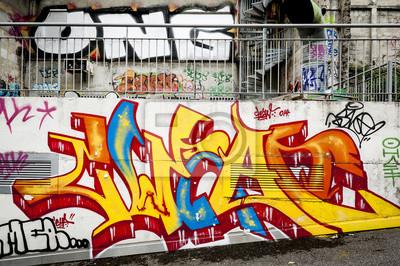 Картина Fond мур де Graffitis