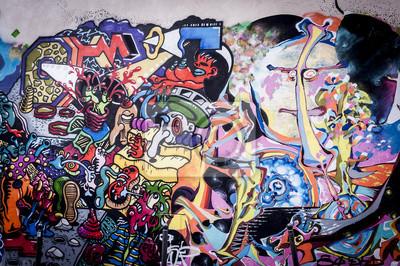 Картина Fond мур де Graffitis Окс Couleurs Вивес