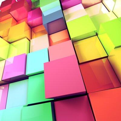 Картина Fondo абстрактно-де-Cubos де Colores