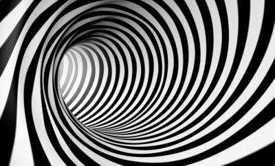 Картина Fondo Espiral Abstracta 3d ан Бланко у негра