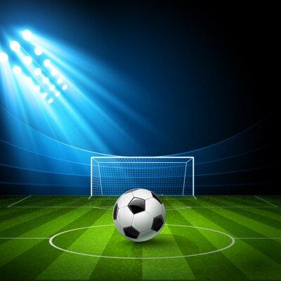 Картина Футбол арена с футбольным мячом. Вектор