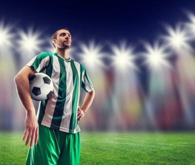Картина Футбол-игрок с мячом