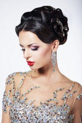 Картина Формальные партии. Fashion Model в формальной Блестящий платье с драгоценными камнями