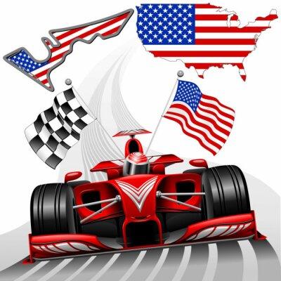 Картина Формула-1 Race Car GP Остин США