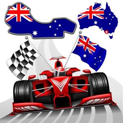Картина Формула-1 Red Race Car ГП Австралии