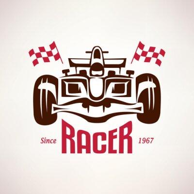 Картина formula racing car emblem, race bolide symbol