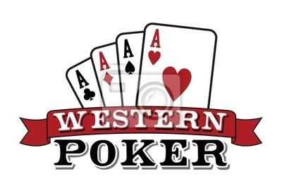 Четыре туза на белом. Значок покер