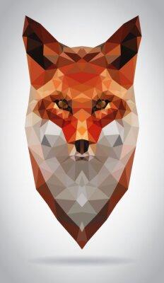 Картина Вектор Фокс глава изолированных иллюстрация современный геометрический