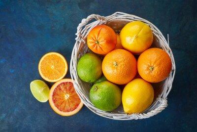 Картина Свежие фрукты цитрусовые
