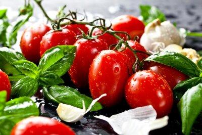 Картина Frische Tomaten мит унд Knoblauch Basilikum