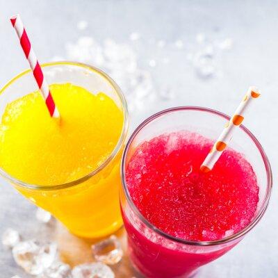 Картина Замороженные Фрукты Слякоть Granitas с питьевой соломинки