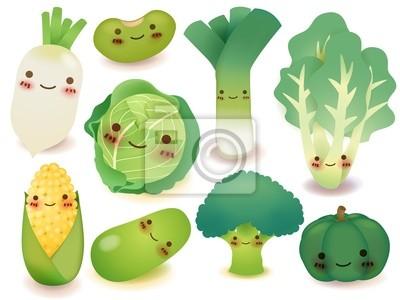 Сбор фруктов и овощей - векторный файл EPS10