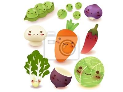 Сбор фруктов и овощей векторный файл EPS10