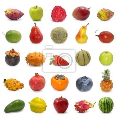 фрукты коллекции, изолированных на белом фоне