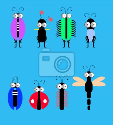 Забавный набор насекомых