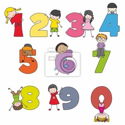 Números divertidos кон niños