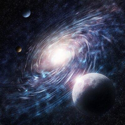 Картина galaxy blue creative