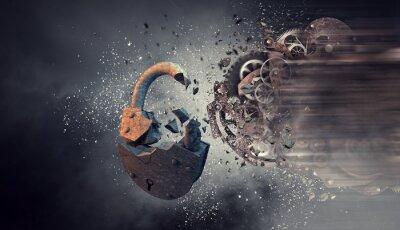 Картина Механизм работы зубчатых колес. Смешанная среда