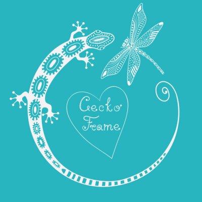 Картина Gecko кадра. Вектор фон