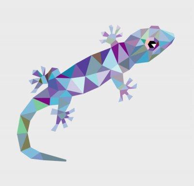 Картина Gecko треугольник с низким полигон вектор