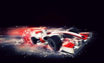 Картина Общий F1 автомобиля со специальным эффектом скорости