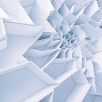 Картина Геометрические абстрактные цветные обои многоугольники