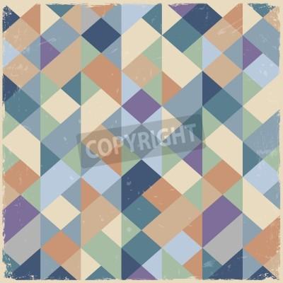Картина Геометрическая ретро фон в пастельных тонах