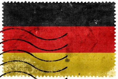 Картина Германия Флаг - старый почтовая марка