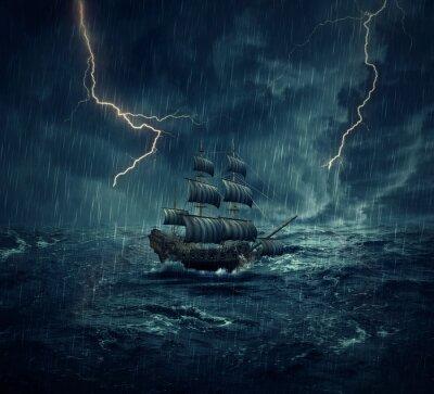 Картина корабль-призрак