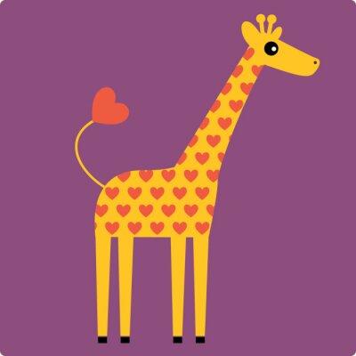 Картина жираф вектор