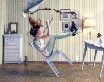 Картина девушка падает