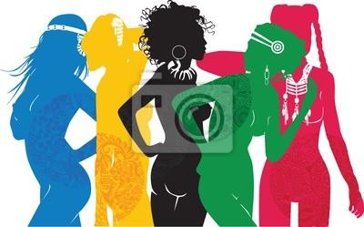 девушки разные стороны мира