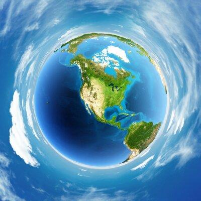 Картина Глобус реальное облегчение